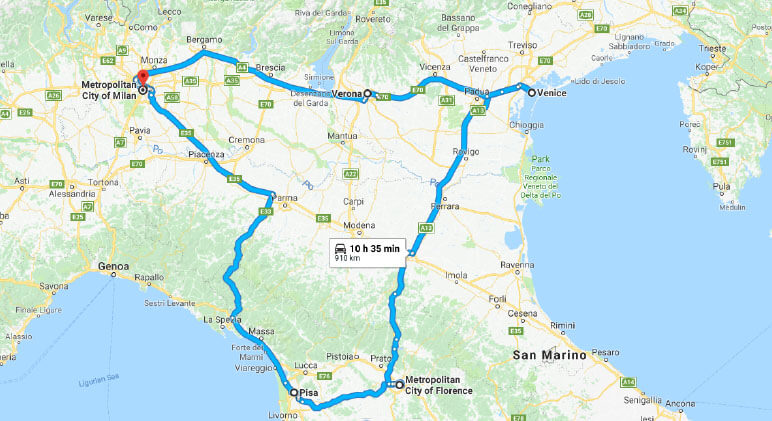 Road Map Of Northern Italy.The Perfect 7 Day Northern Italy Road Trip La Joly Vie